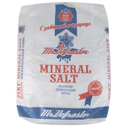 Противогололедный реагент Минеральная соль 25 кг в