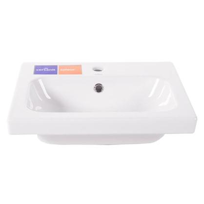 Раковина для ванной Colour керамика 50 см цвет белый