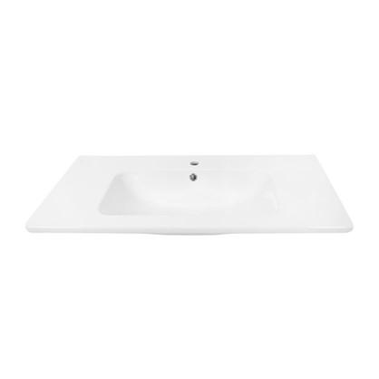 Раковина для тумбы Эйфория 100 см эмалированная керамика цвет белый