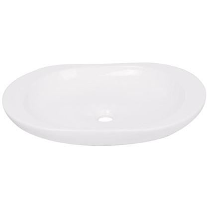 Раковина для ванной круглая Лина керамика 41 см цвет белый