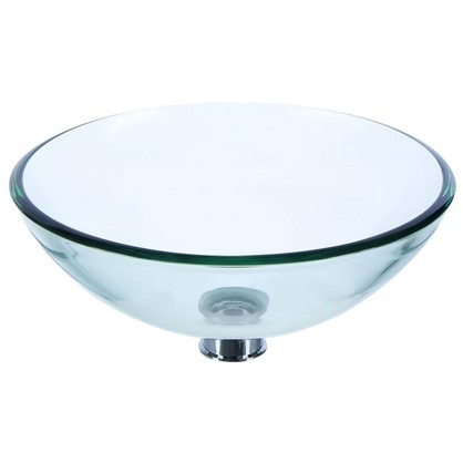Раковина для ванной круглая Луна 395x12 см цвет прозрачный