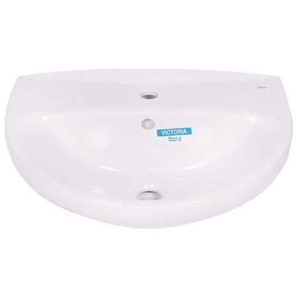 Раковина для ванной Roca Виктория фарфор 46 см цвет белый