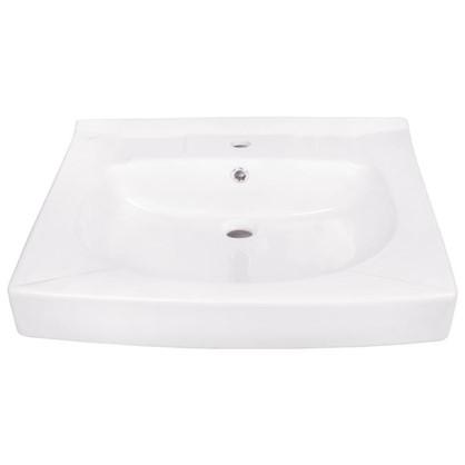 Раковина для ванной Santek Пилот на стиральную машину керамическая 60 см цвет белый