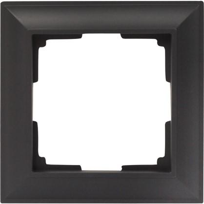 Рамка 1 пост цвет чёрный матовый
