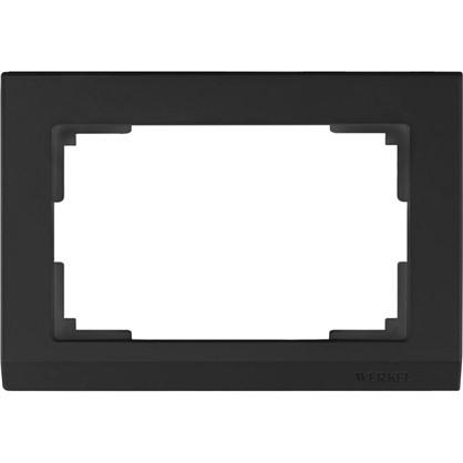 Рамка 2 поста цвет чёрный