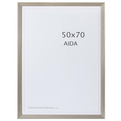 Рамка Aida с патиной цвет серебро размер 50х70