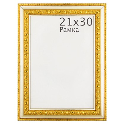 Рамка Charlotta 21х30 см пластик цвет золото
