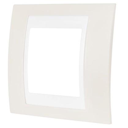 Рамка для розеток и выключателей 1 пост цвет песчаный/белый