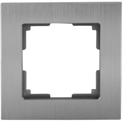 Рамка для розеток и выключателей Aluminium 1 пост цвет металл