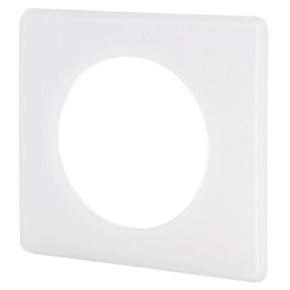Рамка для розеток и выключателей Celiane 2 1 пост цвет перкаль белый