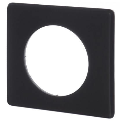 Рамка для розеток и выключателей Celiane 2 1 поста цвет перкаль чёрный