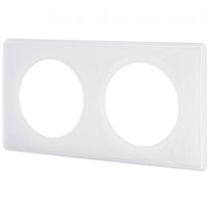 Рамка для розеток и выключателей Celiane 2 2 поста цвет белый глянец