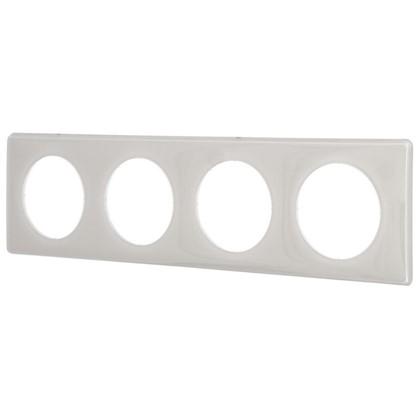 Рамка для розеток и выключателей Celiane 2 4 поста цвет слоновая кость глянец