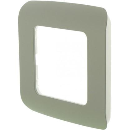 Рамка для розеток и выключателей Cosy 1 пост цвет серый
