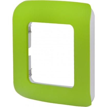 Рамка для розеток и выключателей Cosy 1 пост цвет зеленый