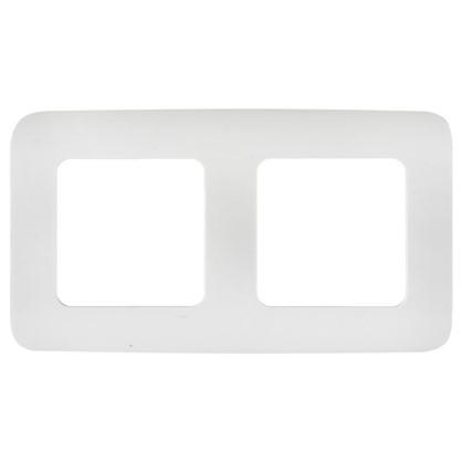 Рамка для розеток и выключателей Cosy 2 поста цвет белый
