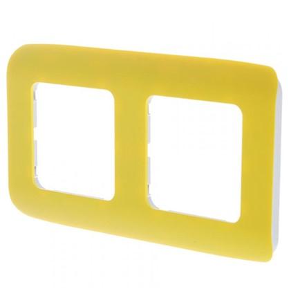 Рамка для розеток и выключателей Cosy 2 поста цвет лимон