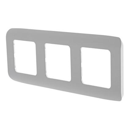 Рамка для розеток и выключателей Cosy 3 поста цвет серый