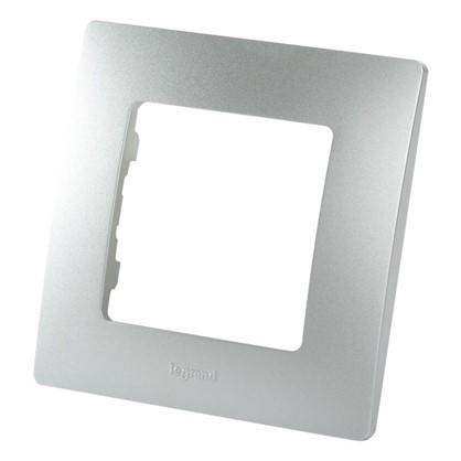 Рамка для розеток и выключателей Etika 1 пост цвет алюминий