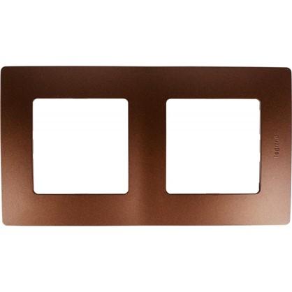Рамка для розеток и выключателей Etika 2 поста цвет какао