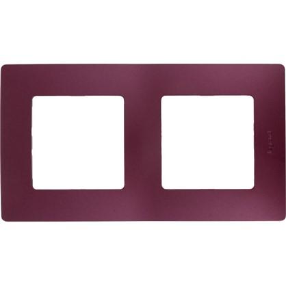Рамка для розеток и выключателей Etika 2 поста цвет слива