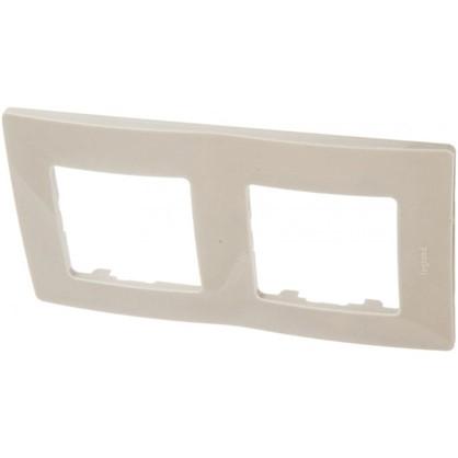 Рамка для розеток и выключателей Etika 2 поста цвет светлая галька