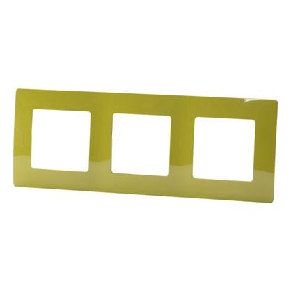 Рамка для розеток и выключателей Etika 3 поста цвет зеленый папоротник