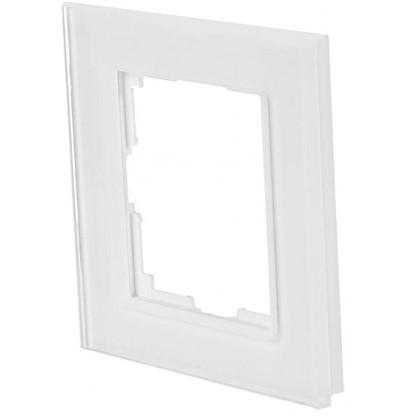 Рамка для розеток и выключателей Favorit 1 пост цвет белый