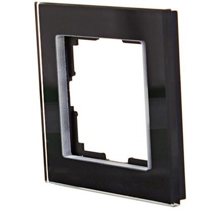 Рамка для розеток и выключателей Favorit 1 пост цвет чёрный