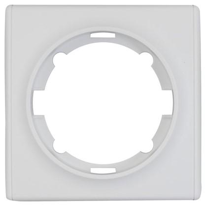 Рамка для розеток и выключателей Florence 1 пост цвет белый