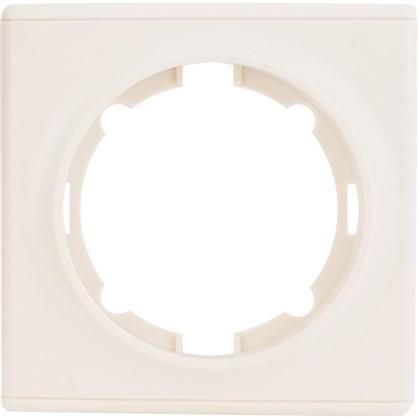 Рамка для розеток и выключателей Florence 1 пост цвет бежевый