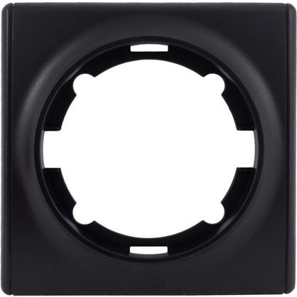 Рамка для розеток и выключателей Florence 1 пост цвет чёрный