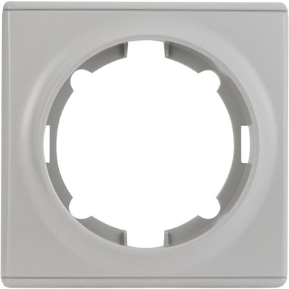 Рамка для розеток и выключателей Florence 1 пост цвет серый