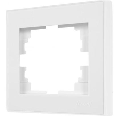 Рамка для розеток и выключателей горизонтальная 1 пост цвет белый
