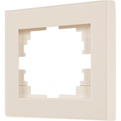 Рамка для розеток и выключателей горизонтальная 1 пост цвет бежевый