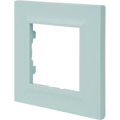 Рамка для розеток и выключателей Legrand Structura 1 пост цвет голубой