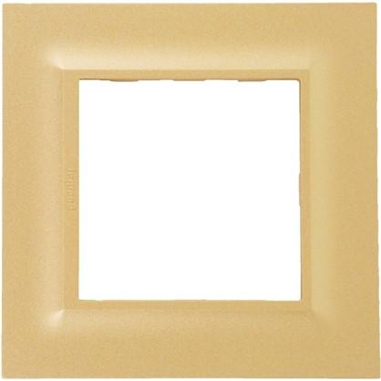 Рамка для розеток и выключателей Legrand Structura 1 пост цвет золото