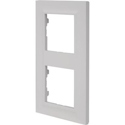 Рамка для розеток и выключателей Legrand Structura 2 поста цвет белый