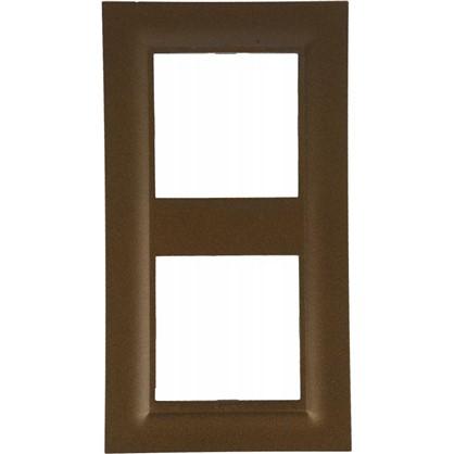 Рамка для розеток и выключателей Legrand Structura 2 поста цвет бронза