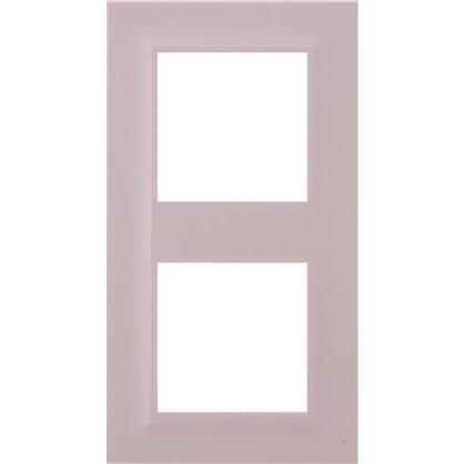 Рамка для розеток и выключателей Legrand Structura 2 поста цвет розовый