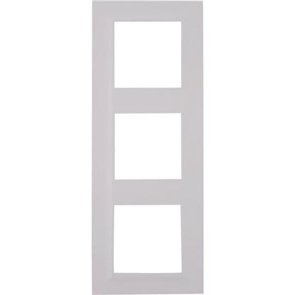 Рамка для розеток и выключателей Legrand Structura 3 поста цвет белый