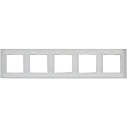 Рамка для розеток и выключателей Legrand Structura 5 постов цвет белый