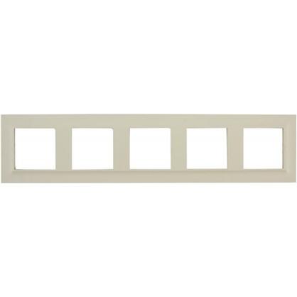 Рамка для розеток и выключателей Legrand Structura 5 постов цвет слоновая кость