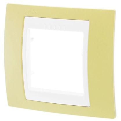 Рамка для розеток и выключателей Schneider Electric Unica 1 пост цвет зелёное яблоко