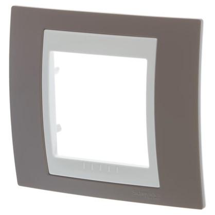 Рамка для розеток и выключателей Schneider Electric Unica хамелеон 1 пост цвет коричневый/бежевый