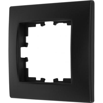 Рамка для розеток и выключателей сферическая 1 пост цвет чёрный бархат матовый