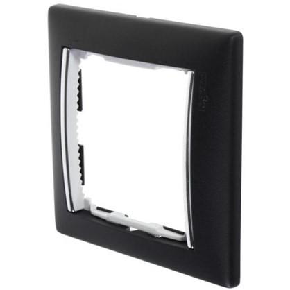 Рамка для розеток и выключателей Valena 1 пост цвет ноктюрн/серебряный штрих
