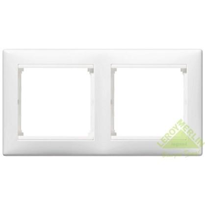 Рамка для розеток и выключателей Valena 2 поста цвет белый