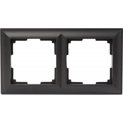Рамка Fiore 2 поста цвет чёрный матовый