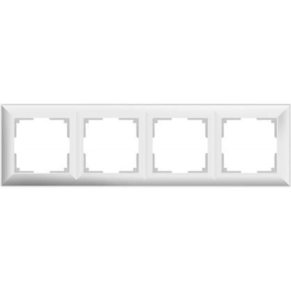 Рамка Fiore 4 поста цвет белый
